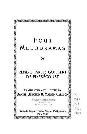 Four Melodramas