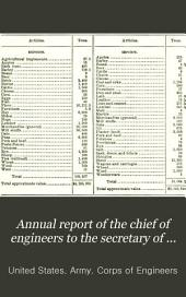 Annual report of the chief of engineers to the secretary of war for the year ...: Part 4