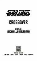Star Trek  The Next Generation  Crossover PDF