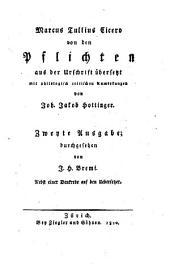 Von den Pflichten: Nebst einer Denkrede auf den Übersetzer /[von Joh. Heinrich Bremi]
