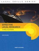 Effective Legal Research PDF