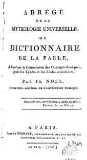 Abrégé de la mythologie universelle, ou, Dictionnarie de la fable