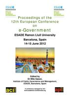 ECEG2012 Proceedings of the 12th European Conference on e Government PDF