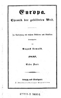 Europa  Chronik der gebildeten Welt   In Verbindung mit mehreren Gelehrten und K  nstlern herausgegeben von August Lewald PDF