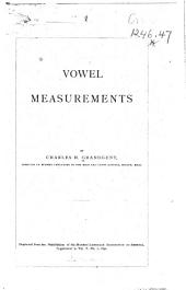 Vowel Measurements