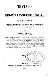 Tratado de medicina y cirugia legal: Volumen 1