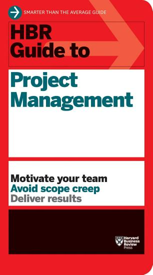 HBR Guide to Project Management  HBR Guide Series  PDF