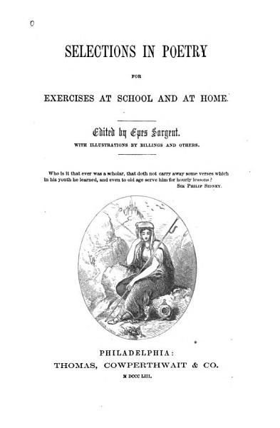 Download Selections in Poetry for Exercises at School and at Home Book