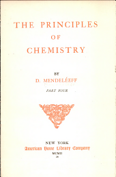 The principles of chemistry: Volume 4