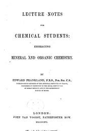 Lecture Notes for Chemical Students: Embracing Mineral and Organic Chemistry