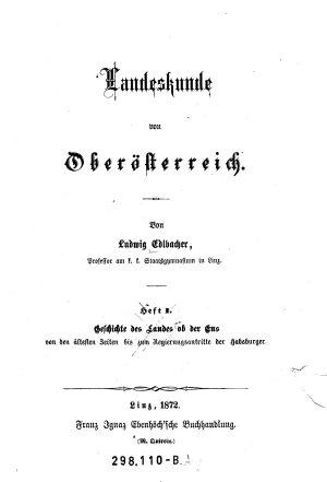 Landeskunde von Ober  sterreich PDF