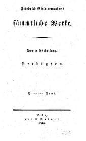 Sämmtliche Werke: Predigten ; Bd. 4, Band 2,Ausgabe 4