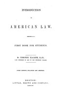 Introduction to American Law  Designed as a First Book for Students PDF