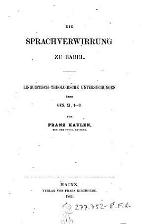 Die    Sprachverwirrung zu Babel PDF