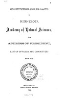 Bulletins of the Minnesota Academy of Science PDF