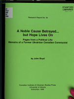 A Noble Cause Betrayed-- But Hope Lives on