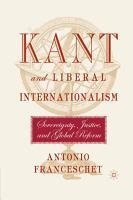 Kant and Liberal Internationalism PDF