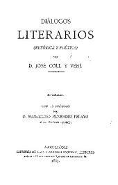 Diálogos literarios: retórica y poética