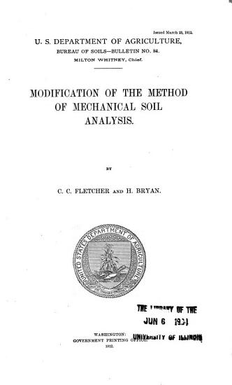 Modification of the Method of Mechanical Soil Analysis PDF