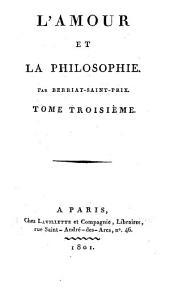 L'amour et la philosophie: Volume3