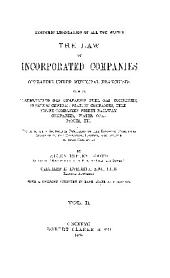 Economic Legislation of All the States: The Law of Incorporated Companies Operating Under Municipal Franchises, Such as Illuminating Gas Companies, Fuel Gas Companies, Electric Central Station Companies, Telephone Companies, Street Railway Companies, Water Companies, Etc., Preceded by a Suggestive Discussion of the Economic Principles Involved in the Operation, Control, and Service of Such Companies, Volume 2