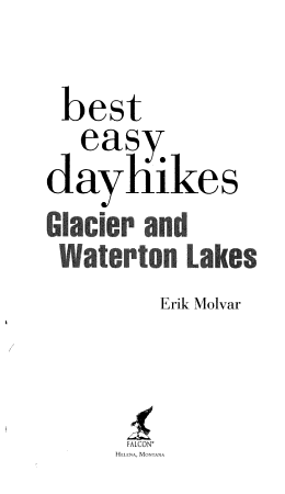 Best Easy Day Hikes Glacier and Waterton Lakes PDF