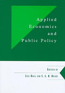 Applied Economics and Public Policy Book