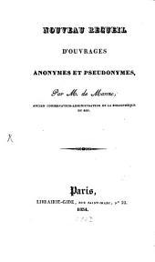 Nouveau recueil d'ouvrages anonymes et pseudonymes