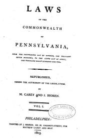 Laws of the Commonwealth of Pennsylvania: Volume 1