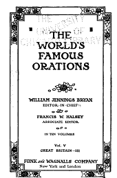 The World's Famous Orations: Volume 5, Part 3