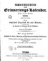 Geschichts  und Erinnerungs Kalender PDF