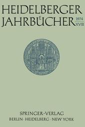 Heidelberger Jahrbücher: Band 18