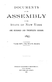 Documents of the Assembly of the State of New York: Volume 25