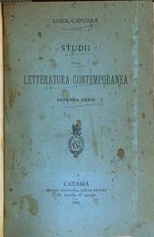 Studii sulla letteratura contemporanea: seconda ser