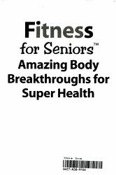 Fitness For Seniors Book PDF