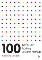 100 Activities for Teaching Research Methods PDF
