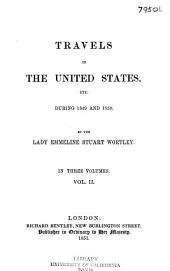 Travels in the United States, Etc., During 1849 and 1850: Volume 2
