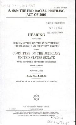 S  989  the End Racial Profiling Act of 2002 PDF