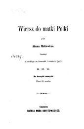 Wiersz do matki Polki