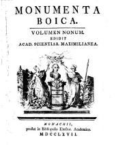 Monumenta Boica: Band 9