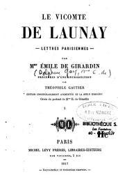 Le vicomte de Launay: lettres parisiennes