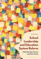 School Leadership and Education System Reform PDF