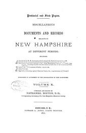 Provincial and State Papers: Volume 10