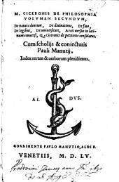 M. Ciceronis de Philosophia Volvmen Secvndvm