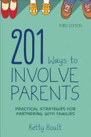 201 Ways to Involve Parents PDF