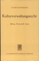 Kulturverwaltungsrecht PDF