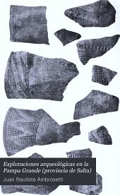 Exploraciones arqueológicas en la Pampa Grande (provincia de Salta)