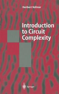 Introduction to Circuit Complexity PDF