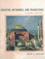 Societies  Networks  and Transitions  A Global History PDF