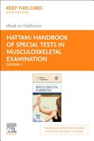 Handbook of Special Tests in Musculoskeletal Examination E Book PDF